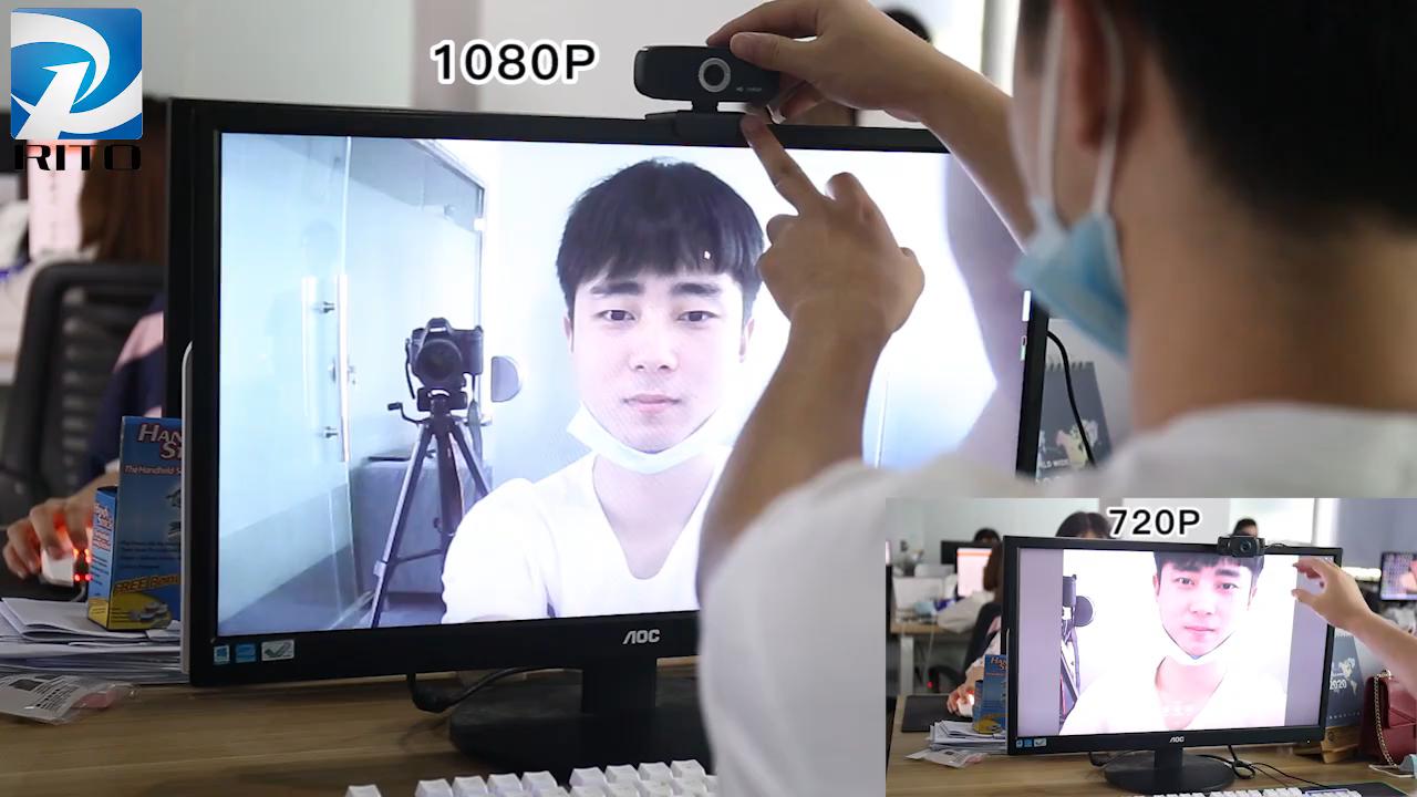 HD webcam החכם 1080p עם מיקרופון USB וידאו שיחת מחשב היקפי אינטרנט מצלמה למחשב מצלמה