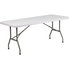 Promotion d'été Belle 6FT Solide Rectangulaire Banquet Table Pliante En Plastique