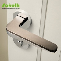 Simple italian design zinc alloy door handle/door locks and handles