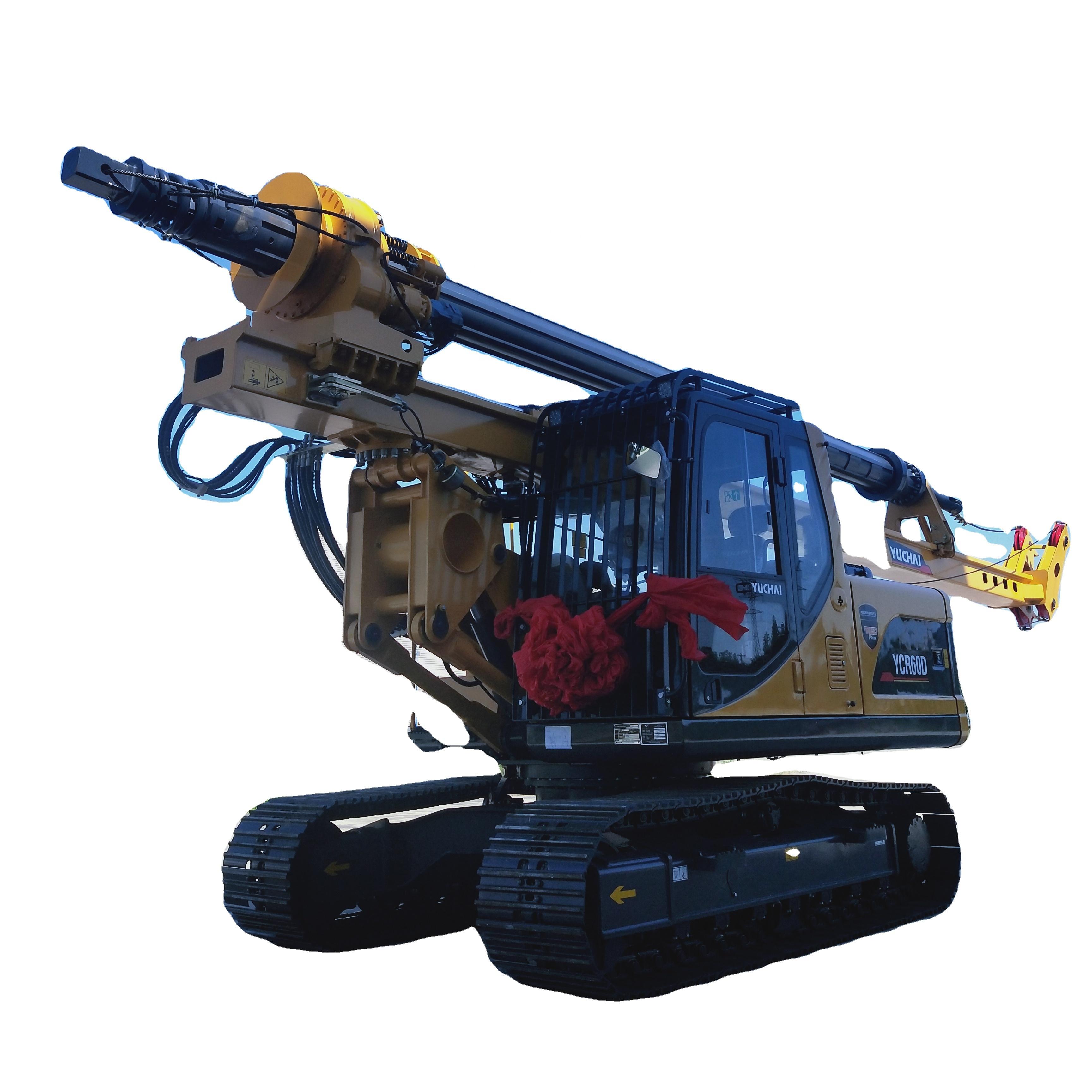 YUCHAI Mini Crawler Rotary Drilling Rig portable rotary drilling machine YCR60