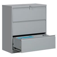 3 lateral drawer file cabinet metal stroge cabinets steel file cabinet for office