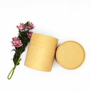Custom Different Size Biodegradable Cardboard Cylinder Kraft Paper Gift Boxes For Loose Tea Packaging