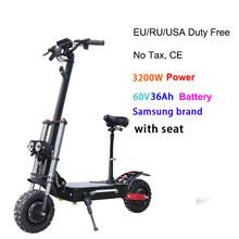 """2600 Вт Мощный 11 """"электрический скутер с Samsung 30AH батарея сиденье складной E самокат взрослый самокат скейтборд ховербоад(Китай)"""