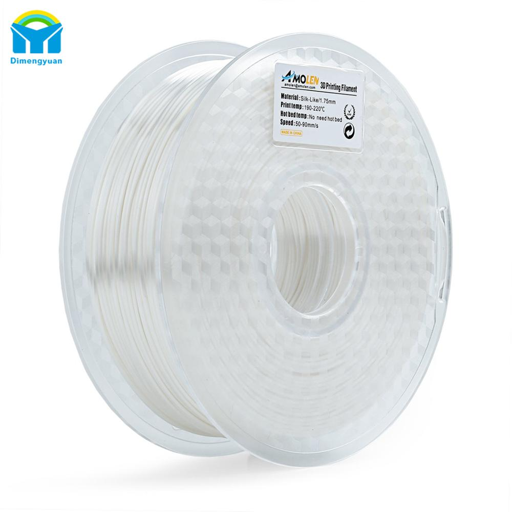 Hot 3D Afdrukken PLA Filament 1.75mm Printer Modellering spool Zijde Als Filament Flexibele Soft toont sterke inter-layer bonding
