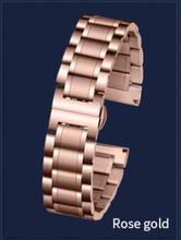 Для мужчин и женщин заменитель стальной ремешок пять батов твердые нержавеющая сталь Ремешки для наручных часов Бабочка Пряжка 16 ~ 24 мм стал...(China)