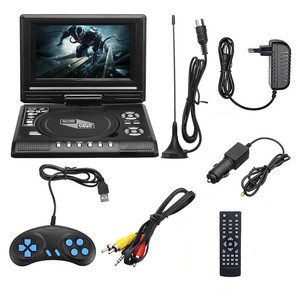 Portable 7inch Rechargeable Battery Game Analogue TV FM Radio USB DVD Player
