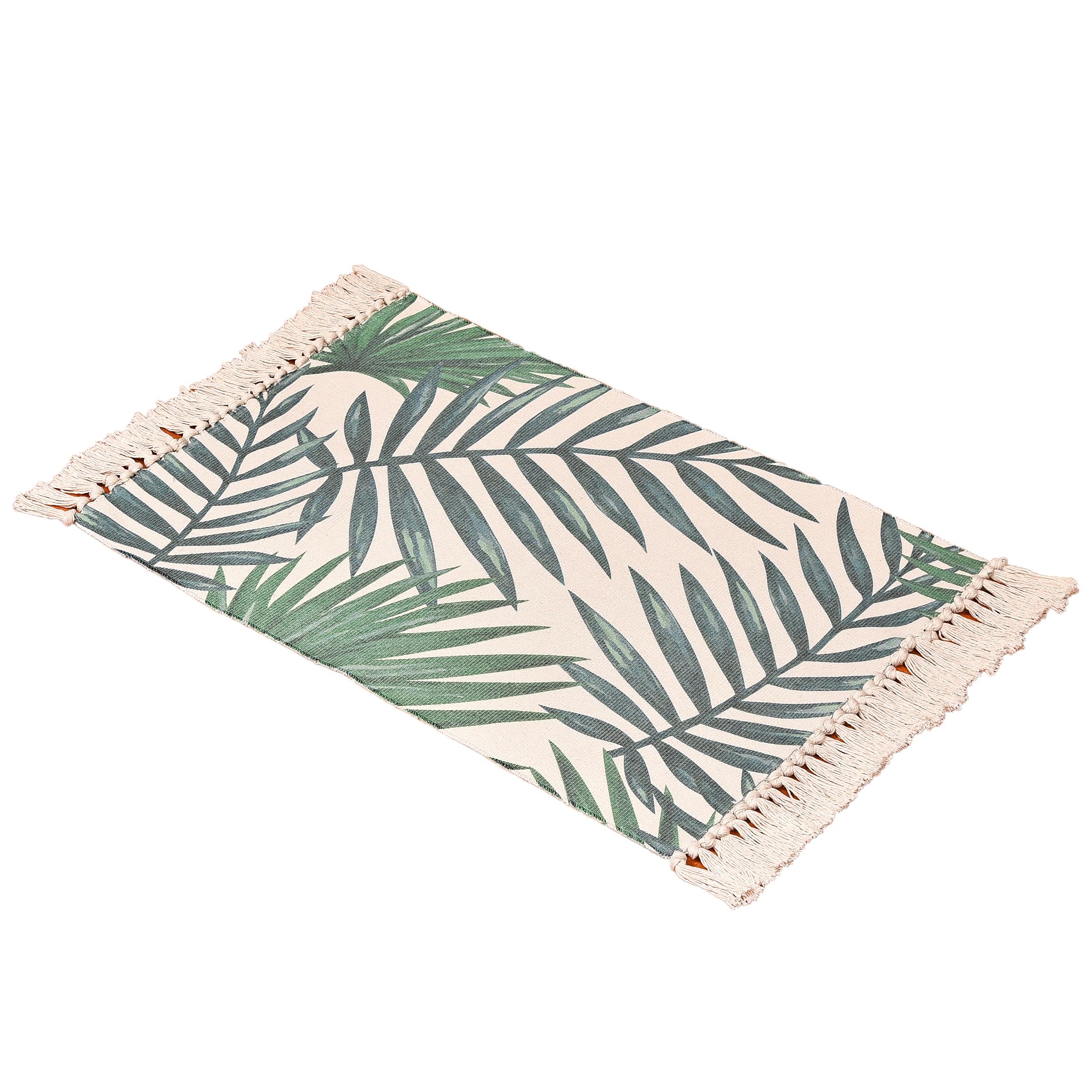 Bohemian akdeniz dokuma mat banyo oturma odası çalışma yatak odası halısı makine dokuma halı yapraklar baskı halı yıkanabilir
