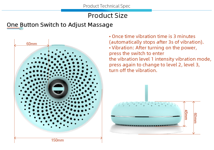 New Design Electric Adjustable Massage Facial Massage Beauty Device with Hydrogen