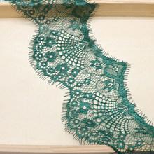 3 ярдов; Красивое однотонное модное кружевное 9,5 см кружевная ткань с широкой отделкой для DIY Швейные высокого качества с украшением в виде в...(Китай)