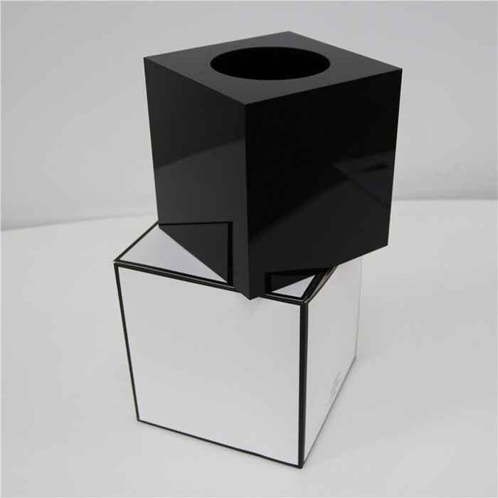 factory custom design Acrylic Square tissue box storage case