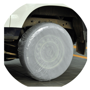 plastic car tire cover protector