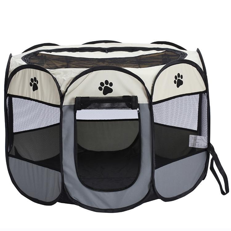 المحمولة طوي قفص الحيوانات الأليفة حقيبة حمل للاستخدام في الأماكن المغلقة في الهواء الطلق مقاومة للماء للإزالة الظل غطاء الكلاب القطط