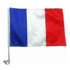 EK 2020 France Car Window Flag with pole french auto flag