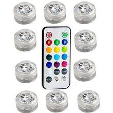 1 шт. RGB 13 цветов светодиодный светильник для кальяна, бар, праздничное украшение для вечеринок с пультом дистанционного управления, аксессу...(Китай)