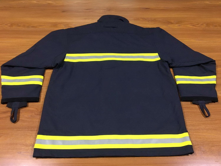 EN469 NFPA1971 Classic Navy Blue Dupont Nomex Twill Shell 4 Layers Fire Fighter Fireman Fire Fighting Firefighter Clothing