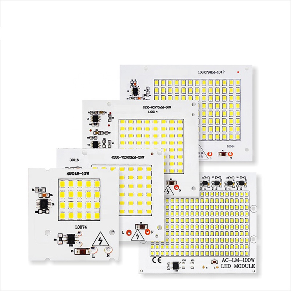 LED SMD2835 Chip Beads LED Lamp 50W 100W Smart IC AC220V For Outdoor Floodlight