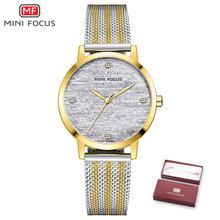 Montre Femme MINIFOCUS, модные роскошные часы для женщин, водонепроницаемые, женское платье, кварцевые наручные часы с кристаллами, подарок для девуше...(Китай)