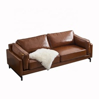 Factory direct sales of modern business reception leather sofa