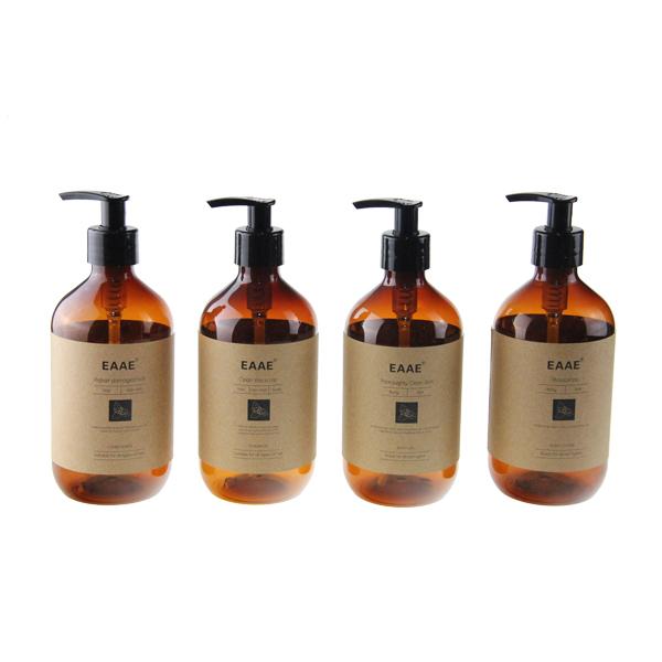 Hotel Amenities Plastic Pump Bottles Shampoo Body Lotion