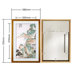 21.5 Inch Wall Mounted Wifi Mp3 digital Picture Frame With Solid wood frame with usb driver photo frame electronic