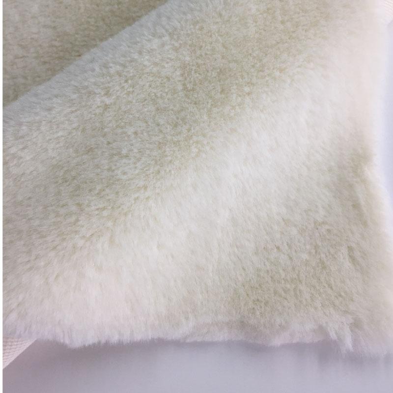 10mm 100% Polyester knit short hair super soft white faux rabbit fur fabric