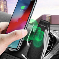 Wireless Car Charger Charging Qi Auto-Clamping Air Vent Dashboard Car Phone Holder For Iphone 11/11 Pro/11 Pro Max/Xsmax/Xs/Xr/X
