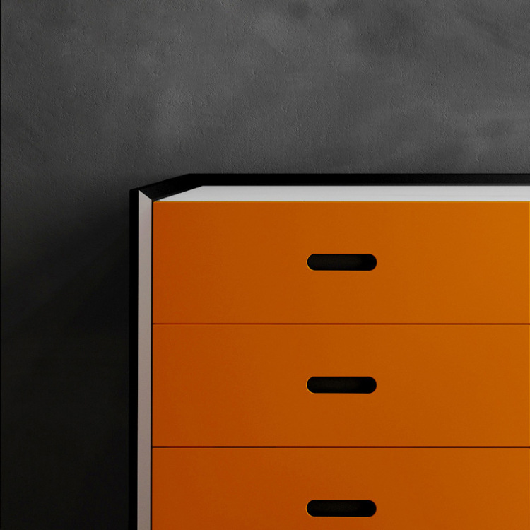 Modern simple household storage cabinets light luxury furniture Italian slab casual dining side cabinets marble countertops