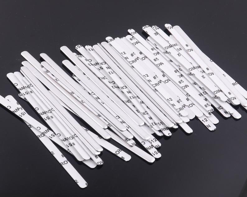 90mm length soft Aluminum strip Nose Bridge for Face one side adhesive