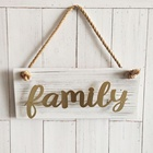 High quality metal word wooden wall art home decor hanging