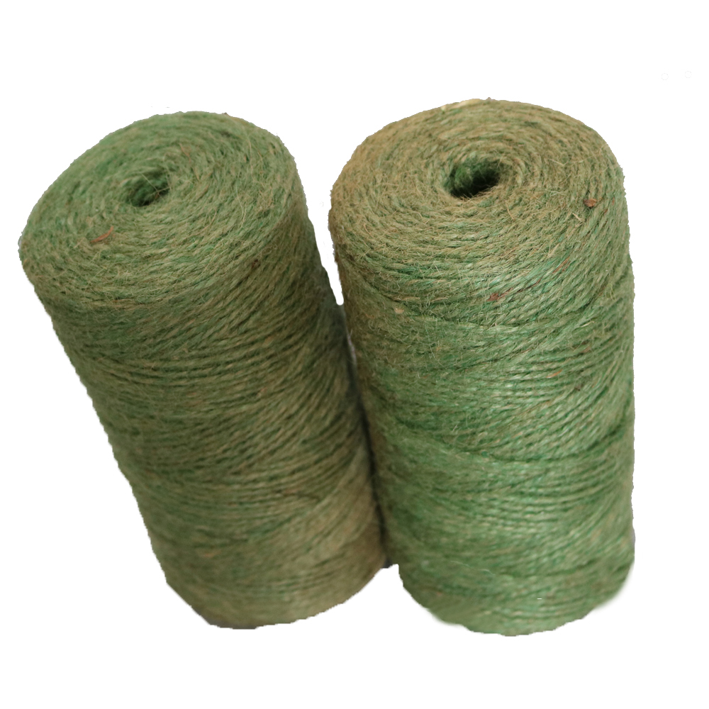Natural 2 mm Green Brown Twisted jute twine rope tomato plant twine ball spool string