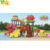 S004 Cheap Price School Play Equipment Outdoor Playground Plastic Slide Toys