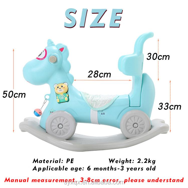 Hot Sale 2 In 1 4 Wheels Cute Animal Mini Eco-Friendly Funny Balance Kids Rocking Horse Sports Toy Preschool
