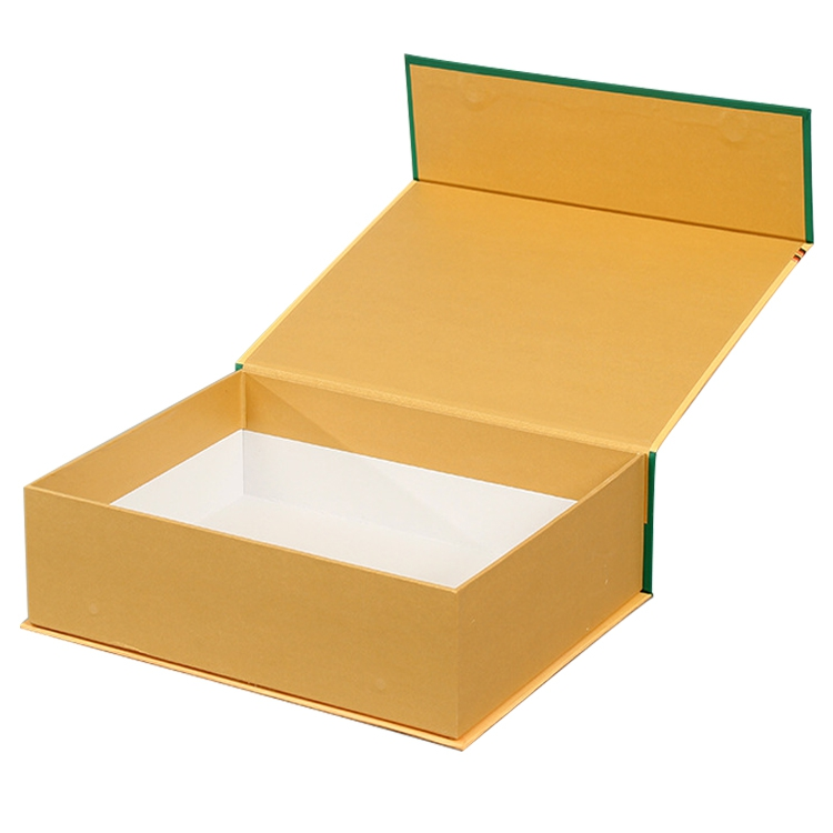 OEM custom hard cardboard magnetic closing folding gift box for easy to ship and store