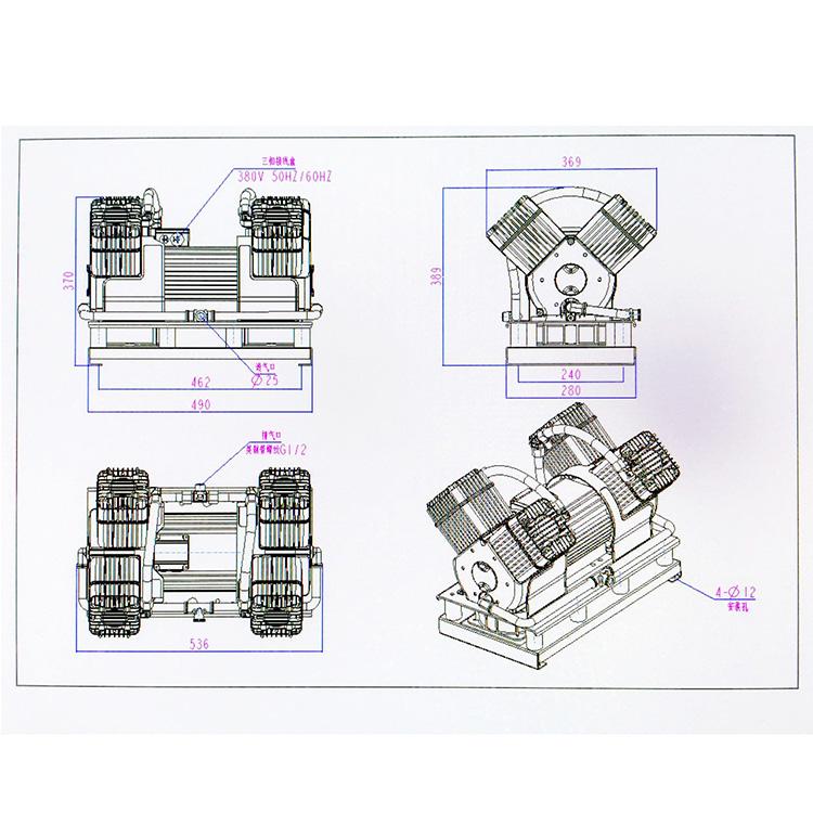 Piston type oil-free Air Compressor