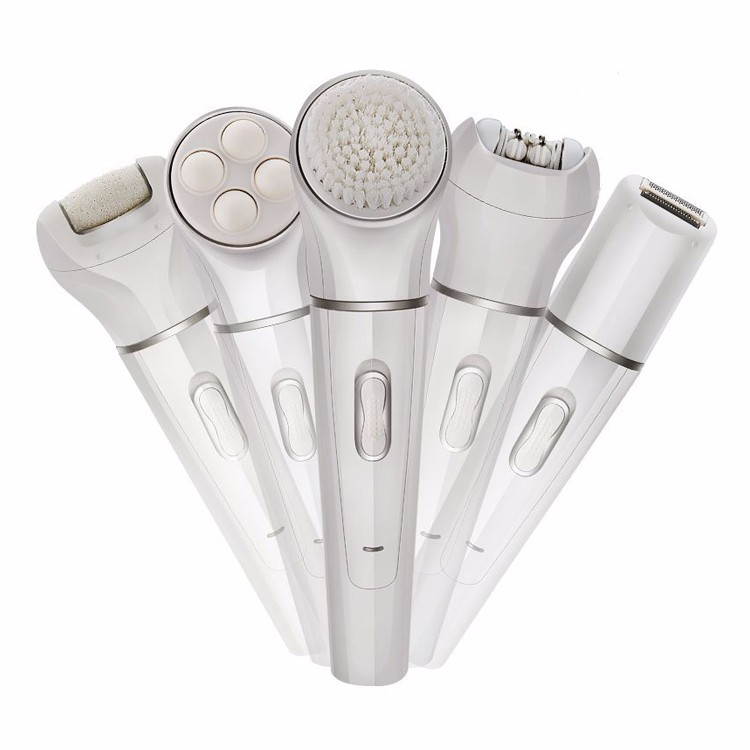 Factory wholesale price Beauty skin massage device multifunctional Facial Brush Machine 5 IN 1 Facial Cleansing Brush