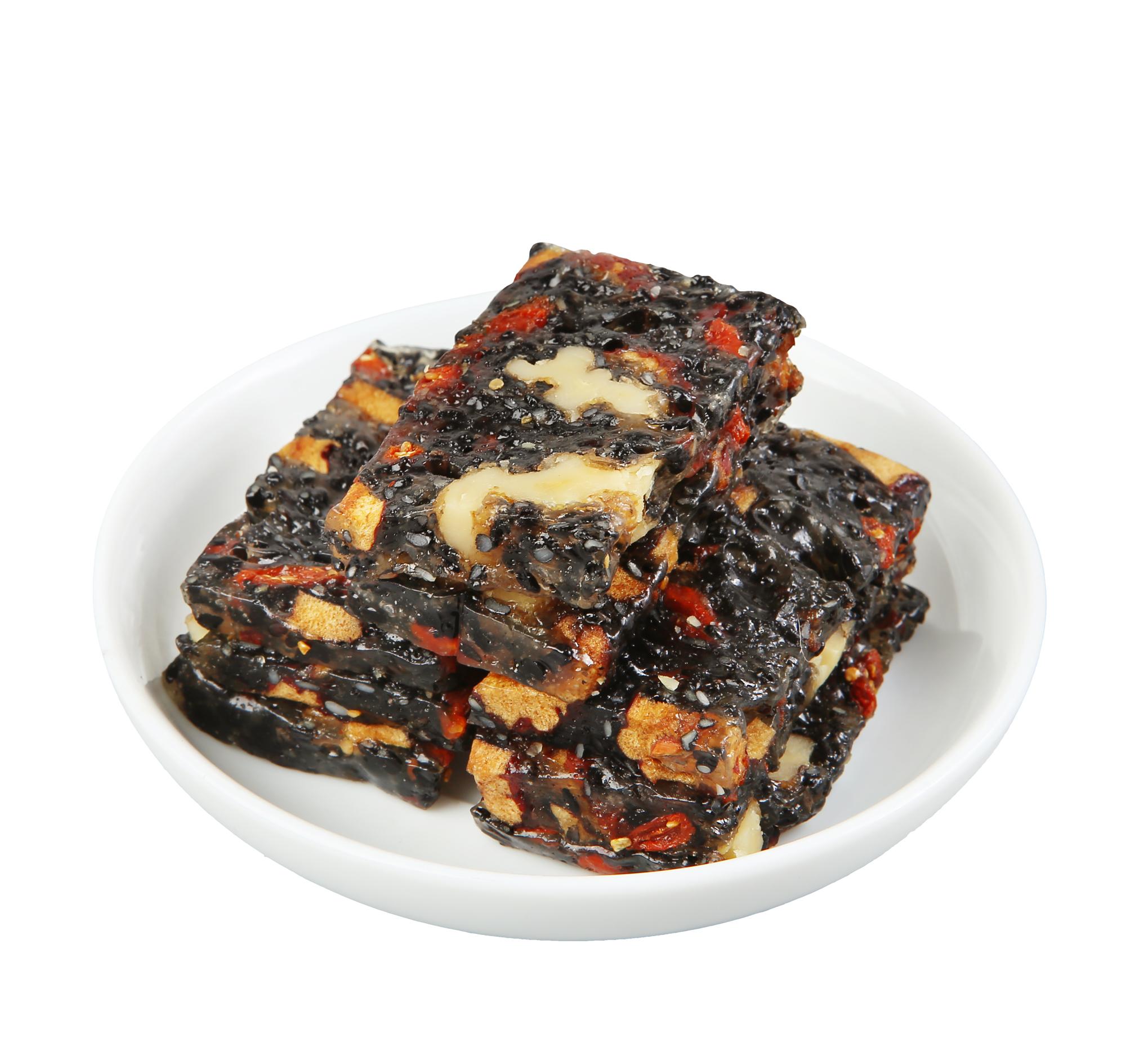 건강한 단백질 스낵 혼합 너트 식품 소프트 바 호두 캔디 블랙 참깨 맛