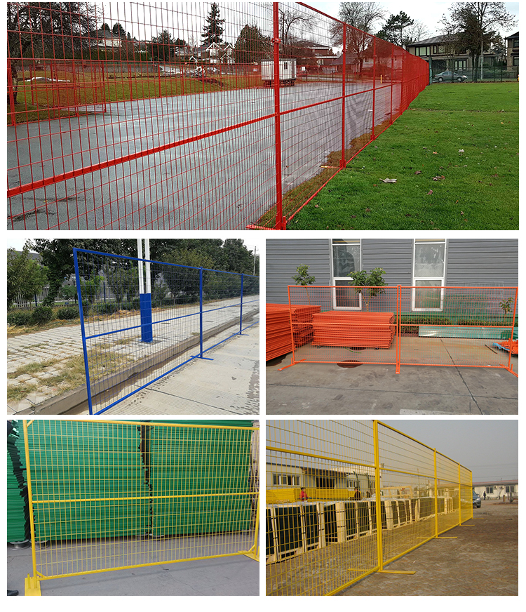 6ftx10ft Hight Quality Galvanized & Powder Coated Temporary Fence Canada Construction Site Fencing