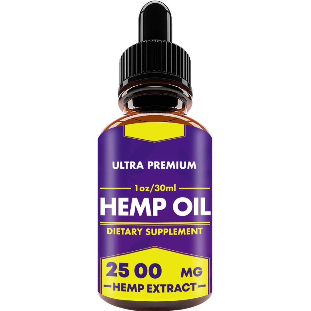 Hemp Oil Drops, 25 000 mg, Natural CO2 Extracted, 100% Organic, Pain, Stress, Anxiety Relief, Reduce Insomnia