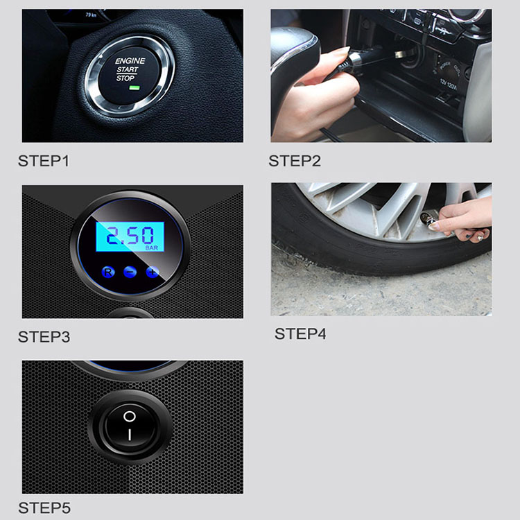 Professional factory new portable digital mini pump electric air compressor for car tire