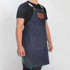Multi-Use Detachable Tool Apron Heavy Duty Denim Jean Work Apron ,Salon Barber Hairdressers Apron