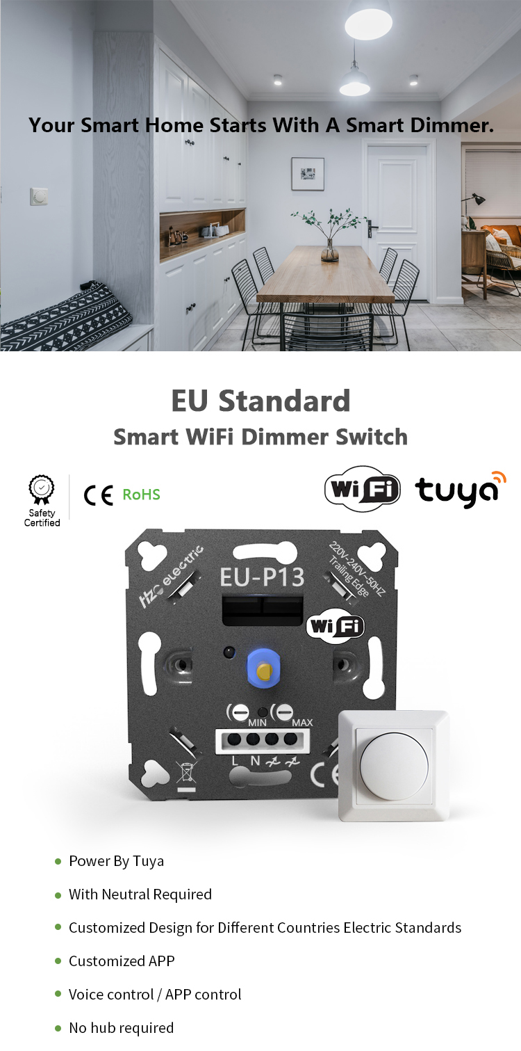 Smart Wifi Dimmer Schalter Smart Home Automation WIFI Dreh Dimmer Schalter