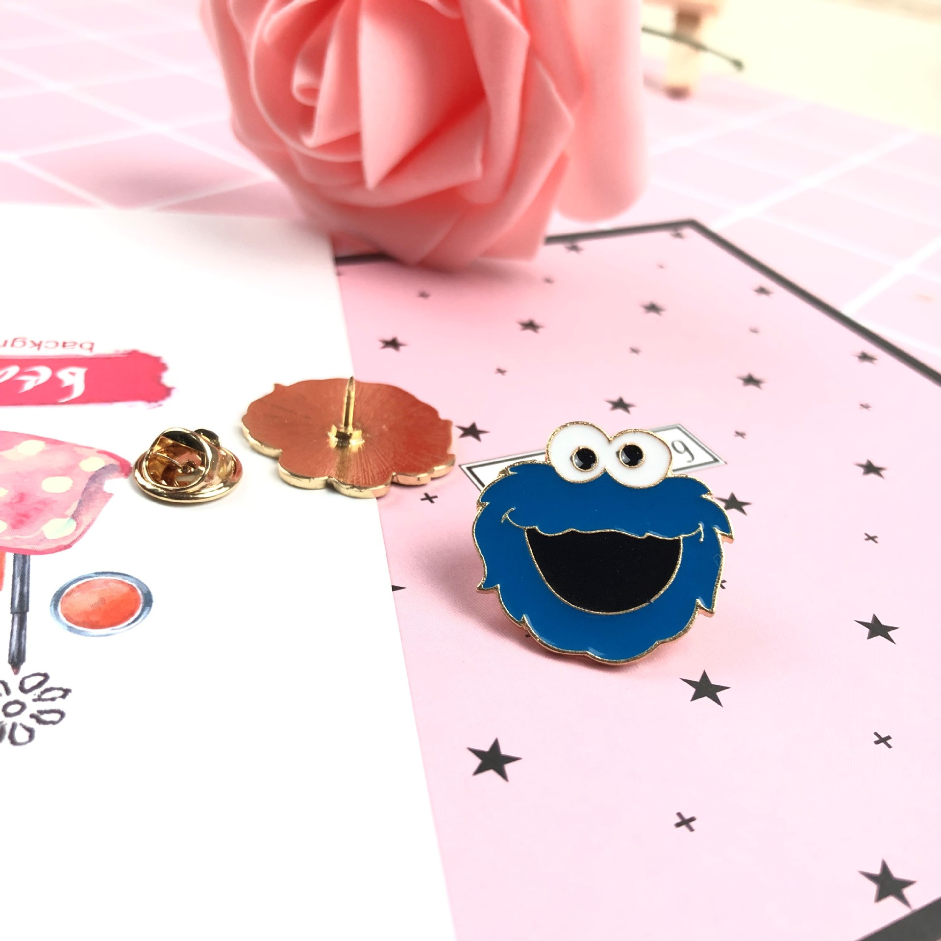 HLX057 Huilin Customized 2019 new Japan and South Korea cute fashion alloy brooch clothes bag jewelry badge Cartoon Brooch