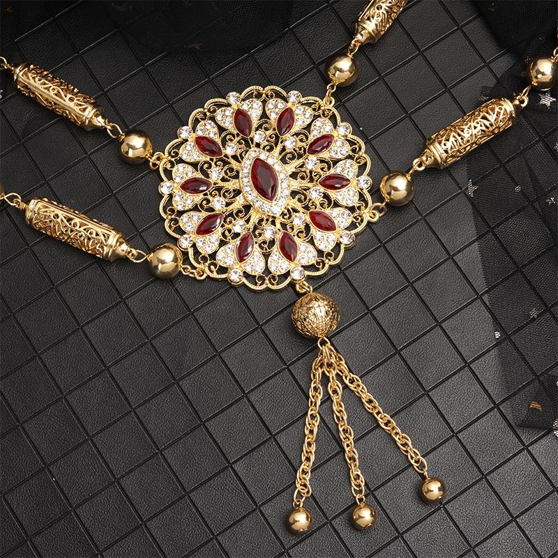 New fashion Moroccan wedding dress chest for women's custom shoulder accessories luxury ethnic wear jewelry
