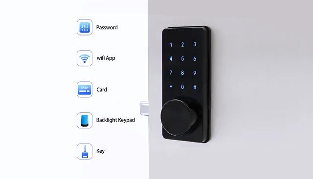 Tuyaบ้านสมาร์ทBiometricควบคุมการเข้าถึงบำรุงรักษาประตูM7W Tuya Wifiล็อคประตูสมาร์ท