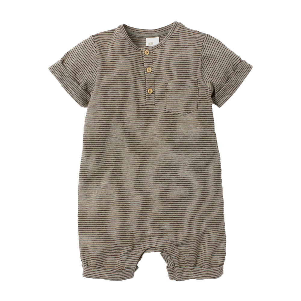 Conice nini toddler boys romper cotton baby jumpsuit summer boy jumpsuit solid color short sleeve rompers baby casual ropa