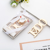 Latest hot selling Creative Bottle Opener Wedding Anniversary Souvenir Return Gifts for Guest promotional gift items