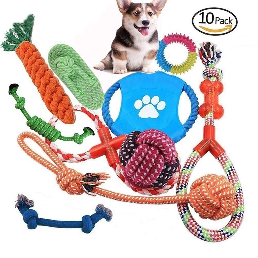 Amazon animale domestico popolare giocattolo combinazione vestito corda di cotone giocattolo dell'animale domestico giocattolo di puzzle palla digrignare i denti