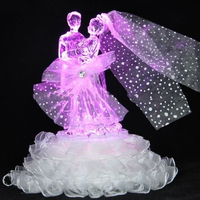 Wholesale wedding glass crafts for gifts with color changing led light