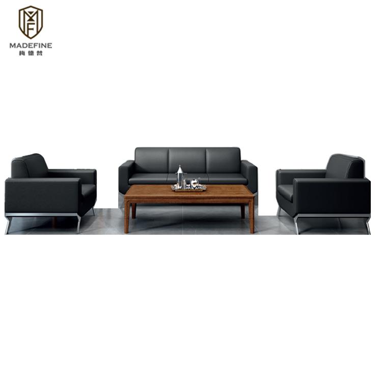 MADEFINE SF-165 nouveau design bureau attente canapé en forme de L salle d'attente hall canapés de bureau
