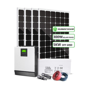 Easy to install Complete 5000w 5kw off grid home lighting solar power kits solar energy system price